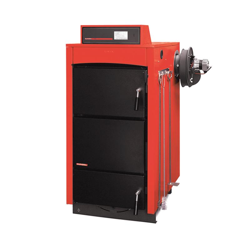Holzvergaser-Heizkessel mit Saugzuggebläse (HV-S)